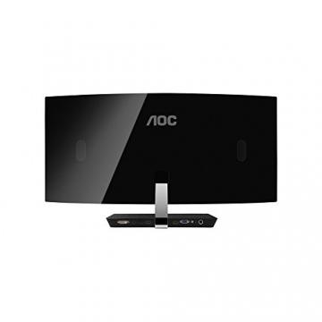 AOC C3583FQ/BS 88,9 cm (35 Zoll) MVA-Monitor (VGA, DVI, 2x HDMI, 2x DisplayPort, 2560 x 1080, 160 Hz, 4ms Reaktionszeit) schwarz/silber -