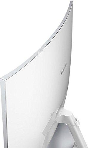 Samsung C27F591F 68,6 cm (27 Zoll) Monitor (HDMI, 4ms Reaktionszeit, 1920 x 1080 Pixel) silber/weiß -