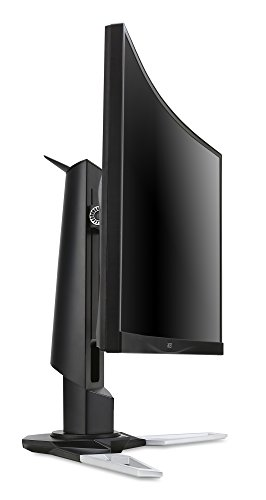 Acer XZ271 69 cm (27 Zoll Full HD) Curved Monitor (HDMI, DisplayPort, USB 3.0, 4ms Reaktionszeit, 144Hz, Full HD Auflösung 1,920 x 1,080, EEK B, Höhenverstellbar) silber/schwarz -
