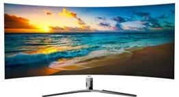 """HKC NB34C 34"""" Ultra WQHD ( 3440x1440) Curved Gaming Monitor, IPS, 21:9, DP (Displayport), HDMI, DVI, Freesync, Flicker free, Lower Blue light. Weiß -"""